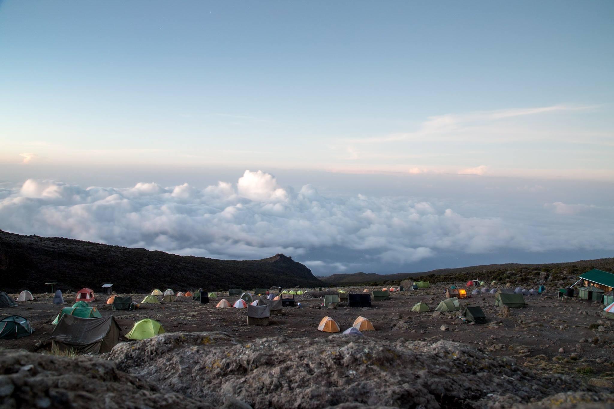 Tallest basecamp Kilimanjaro