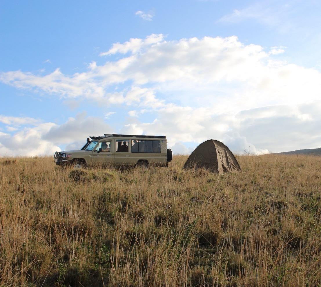 Camping with Maasai