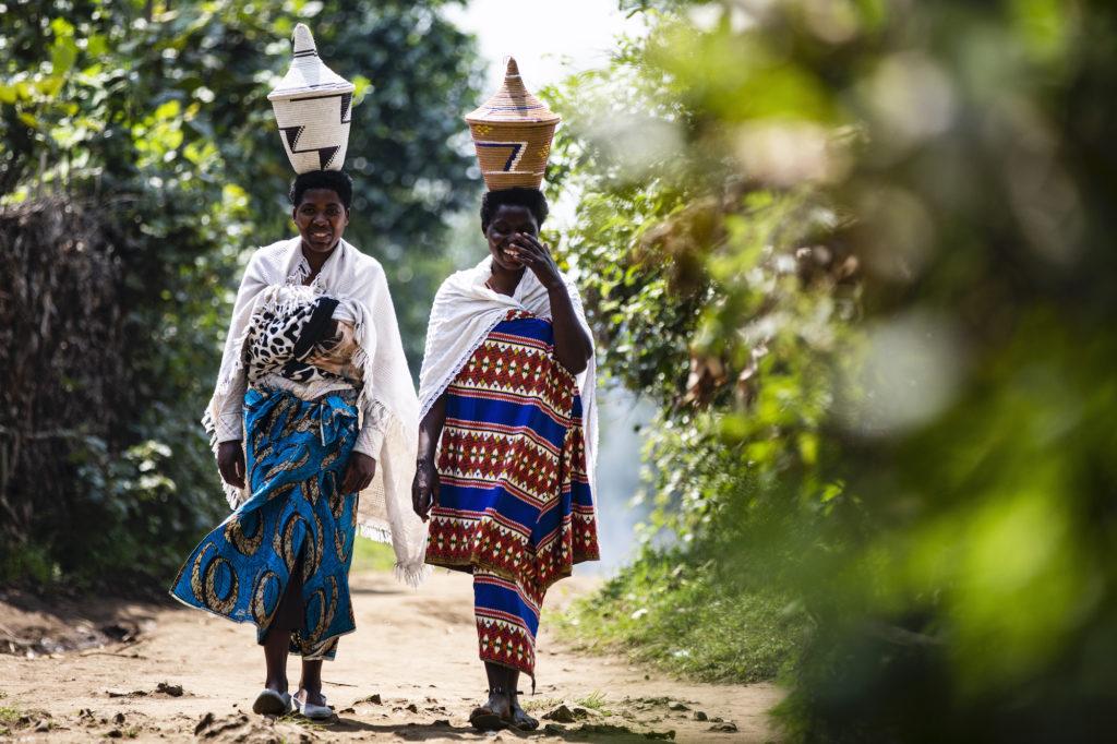 Women walking in Singita Rwanda